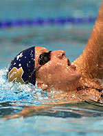 Senior Katie Carroll smashed the Rolfs Aquatic Center pool record in the 1,650-freestyle at the Shamrock Invitational
