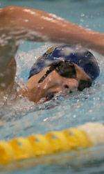 Senior Ted Brown won the 500-yard free during the first session of the Shamrock Invitational on Friday evening.