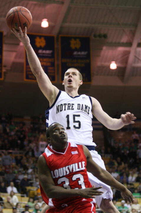Colin Falls is Notre Dame's second-leading scorer averaging 14.0 points per game.