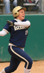 Sophomore Erin Glasco drilled the game-winning three-run home run in the fifth inning