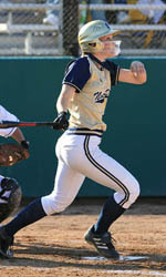Chrisine Lux had two hits and three RBI against St. John's on March 24