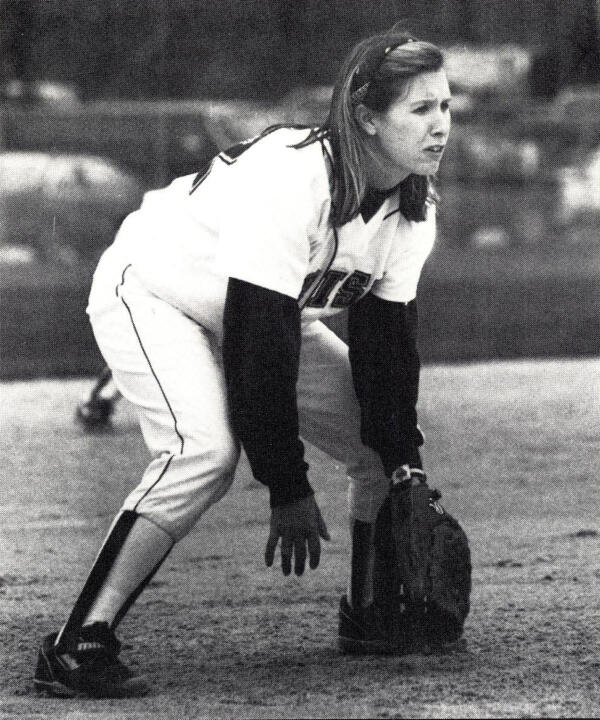 Cook played for the Fighting Irish softball team in 1991 and '92 at second base, shortstop and catcher
