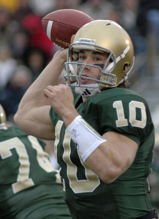 half off a7630 e7de8 Brady Quinn Drafted By Cleveland Browns With 22nd Overall ...