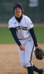 Kenya Fuemmeler combined with Brittney Bargar on the seventh-ever no-hitter at Notre Dame against Ball State