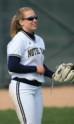 Notre Dame's softball team will play four more games this week
