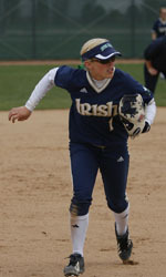 Katie Laing and Notre Dame's softball team are set to play their final three games of the regular season this week.