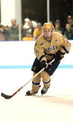 Former Notre Dame right wing Tim Wallace has signed a two-year NHL contract with the Pittsburgh Penguins.