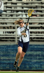 Senior lacrosse player Meghan Murphy is one of three Notre Dame student-athletes ever to receive both the Kanaley Award ('07) and the Chris Zorich Award ('06).