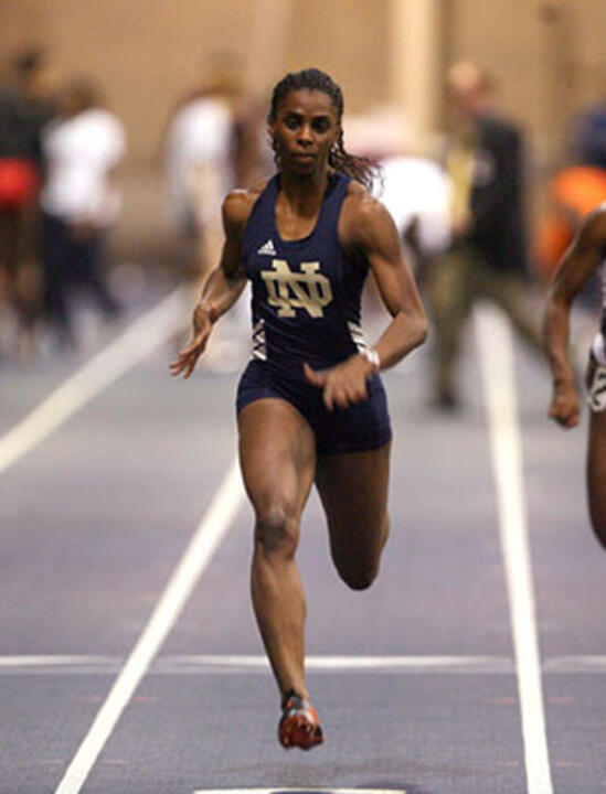 Senior sprinter Maryann Erigha is the fifth Notre Dame track & field athlete (and second woman) to be awarded an NCAA postgraduate scholarship, receiving that honor on Wednesday.