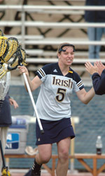 Graduated senior Meghan Murphy was honored by the Intercollegiate Women's Lacrosse Coaches' Association with the IWLCA Community Awareness Award for her community service efforts this past year.