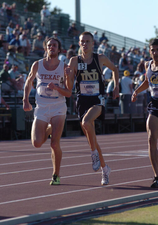 Senior Kurt Benninger posted the second-fastest 1,500-meter time in school history (3:39.80) on the way to a fifth-place finish in the NCAA finals on Saturday afternoon in Sacramento, Calif. <i>(photo by Bob Solorio)</i>