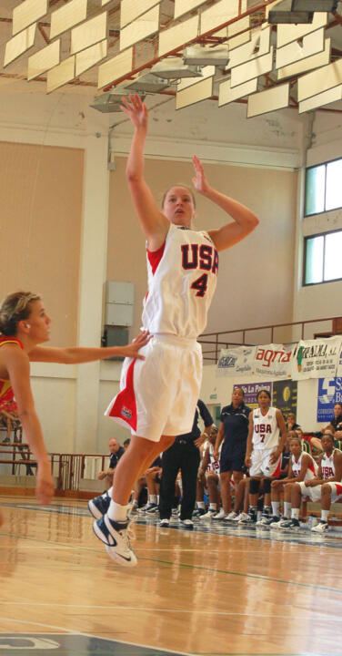 Notre Dame rising sophomore guard Melissa Lechlitner stuffed the stat sheet to the tune of eight points, five assists, four steals and four rebounds in 21 minutes as the United States toppled Slovakia, 84-60 at the U19 World Championships on Wednesday in Bratislava, Slovakia.