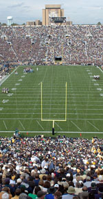 The new turf at Notre Dame Stadium will be completed by April 2008.