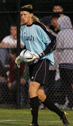 Chris Cahill made three saves against Wake Forest on Saturday night.