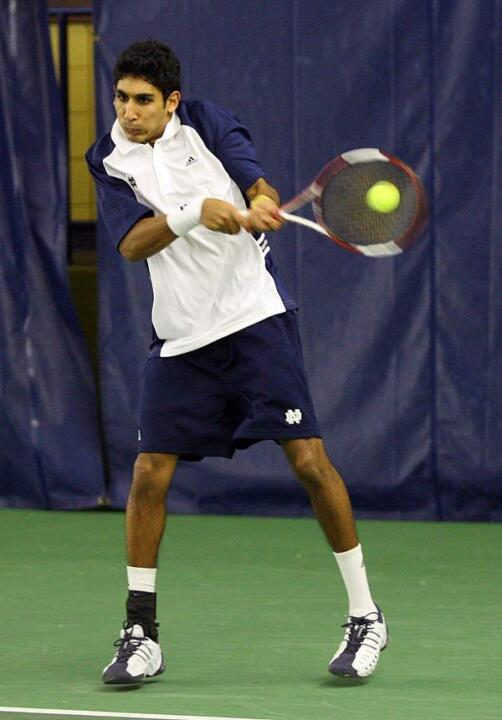 Senior Sheeva Parbhu knocked off No. 3 Dominic Inglot in singles action.