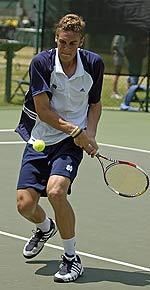 Junior Brett Helgeson improved his record to 15-1 in singles with a pair of victories this weekend.