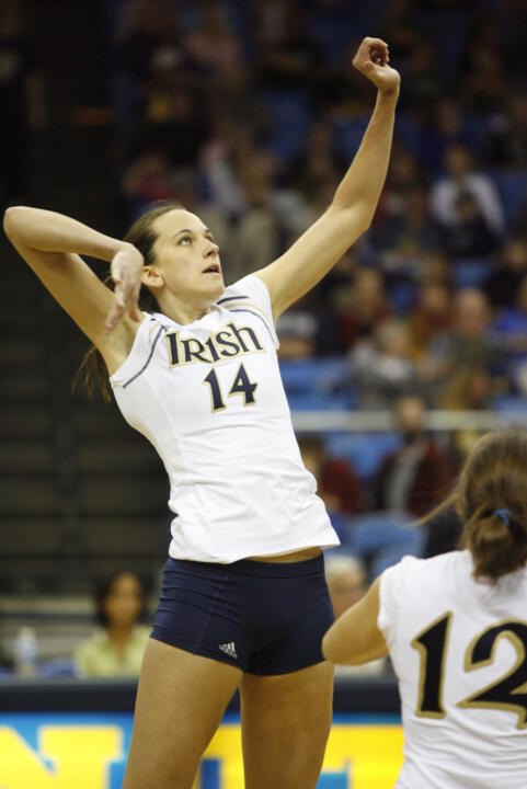Justine Stremick is one of two rising seniors on the 2008 Irish volleyball team.
