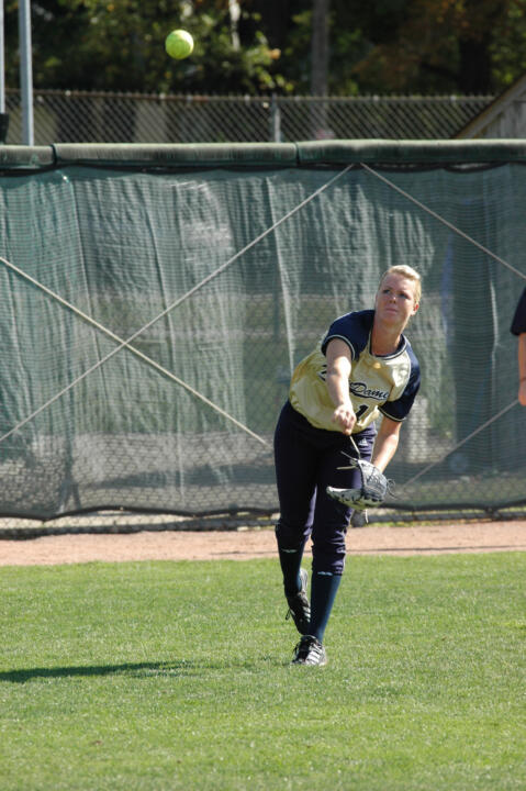 Junior Ashley Ellis scored the game-winning run for the Irish against North Florida on Friday.