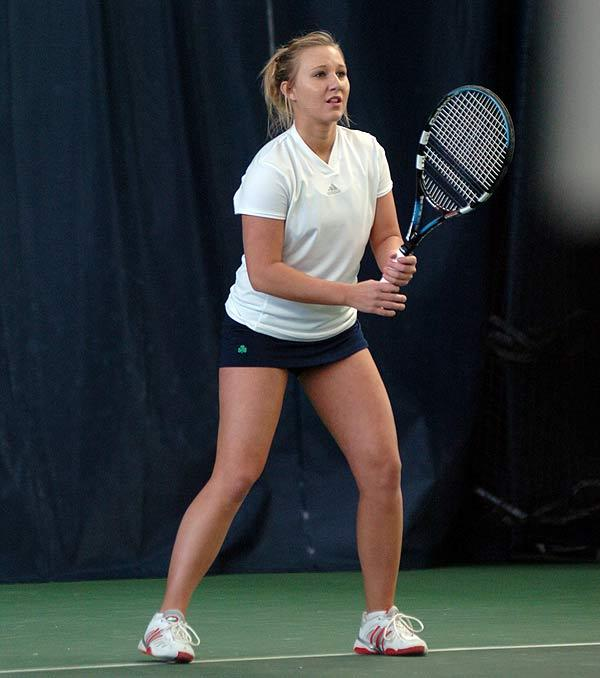 Kelcy Tefft has an impressive 8-0 record in singles dual-match action this season.