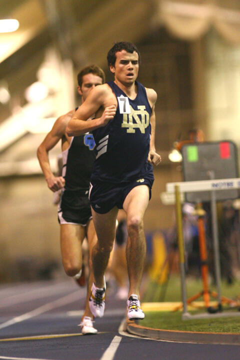 Patrick Smyth takes 5,000-meter run BIG EAST title.