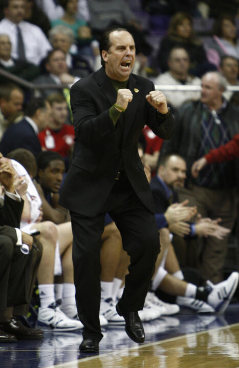 Irish head coach Mike Brey leads his team to the BIG EAST Conference as one of the main contenders for the title.