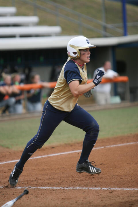 Senior Katie Laing had five hits, five RBI, and scored four times on Friday for the Fighting Irish.