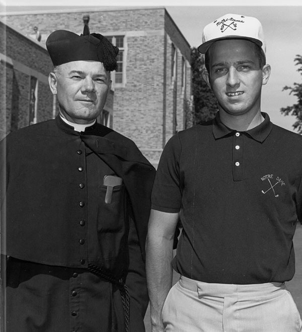 Rev. Clarence Durbin, C.S.C., who served as the Notre Dame men's golf coach from 1961-62 to 1972-73, passed away Wednesday at the age of 94.
