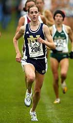 Notre Dame graduate Molly Huddle (pictured) will join Marissa Treece at the 2008 IAAF World Cross Country Championships.