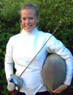 Freshman Sarah Borrmann captured gold in the saber at the NCAA Championships on Friday.
