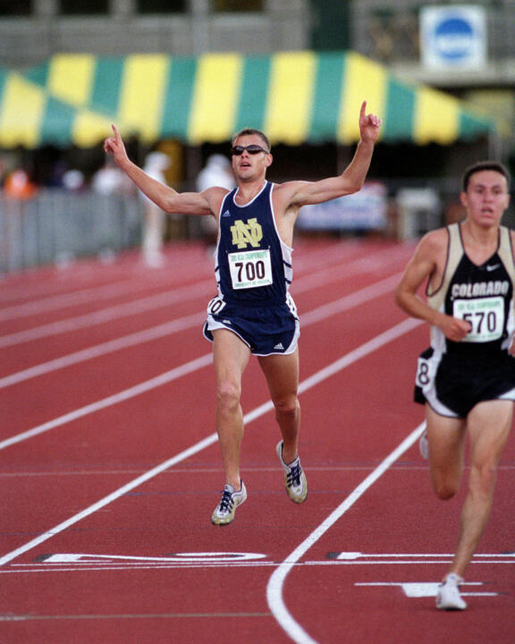 Late Irish distance runner Ryan Shay (shown here winning the NCAA 10,000-meter title in 2001) will be profiled in a segment on the ESPN magazine show <i>E:60</i> Tuesday at 7 p.m. (ET).