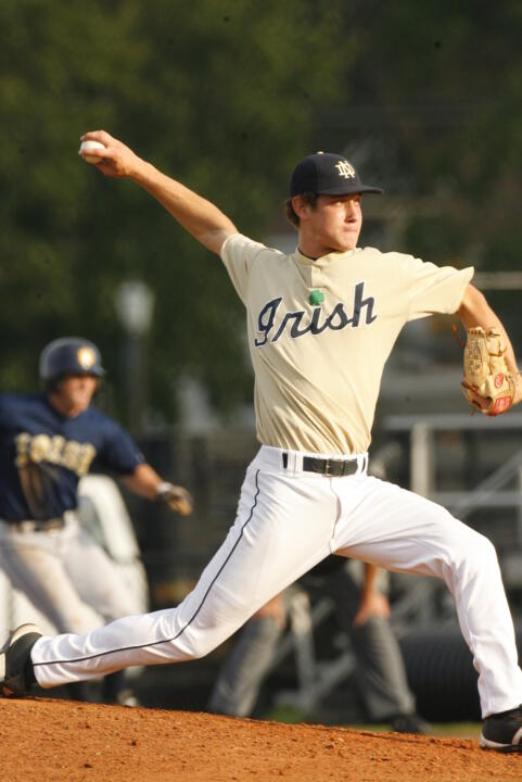 Freshman Ryan Sharley will take the mound for Notre Dame Wednesday night.