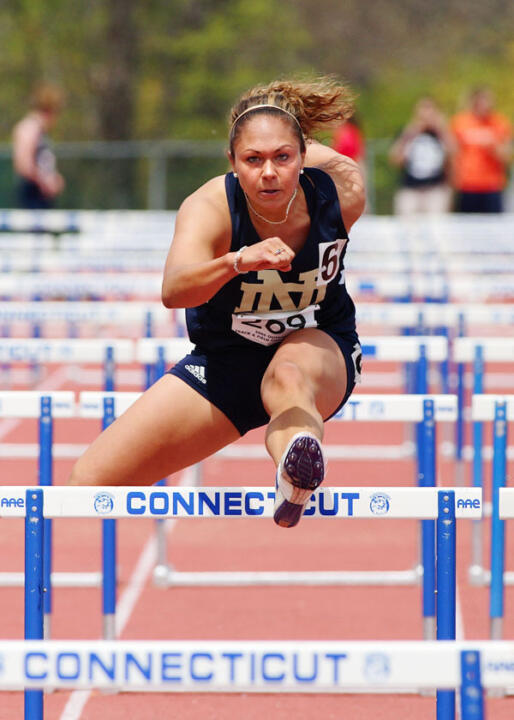 Alyissa Hasan turned in a qualifying time of 13.91, which was also the 10th fastest time recorded in school history
