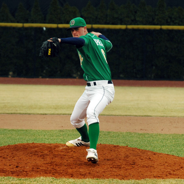 Freshman Brian Dupra struckout four in 2.0 innings of work Wednesday night.