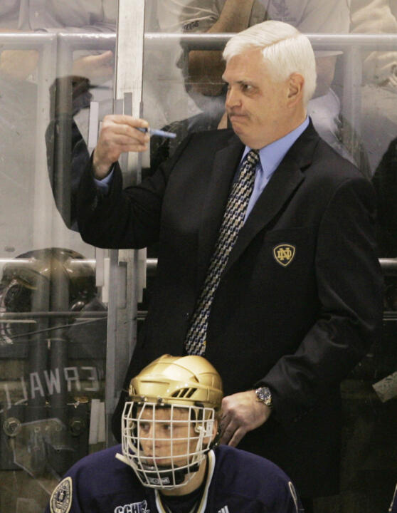 Coach Jeff Jackson makes his fourth appearance in the NCAA Frozen Four and first with Notre Dame.