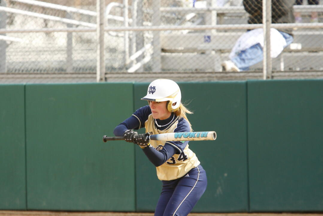 Senior Sarah Smith went 4-for-5 with one walk and one sacrifice in an April 26 doubleheader with Providence.