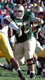 John Sullivan became the fourth former Notre Dame player drafted in the 2008 NFL Draft.