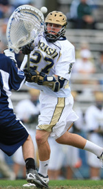 Junior Ryan Hoff notched a hat trick for the Irish on Saturday.