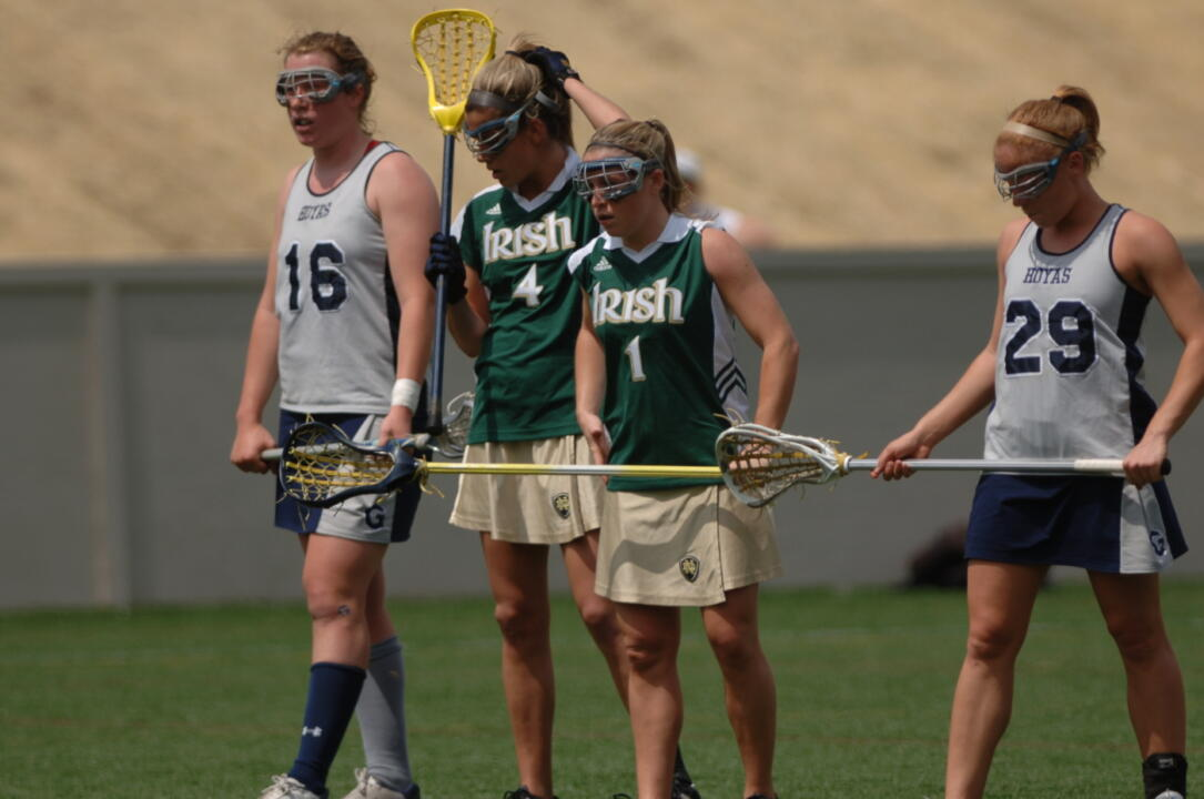 Notre Dame's dynamic duo of Jillian Byers (4) and Caitlin McKinney (1) have been selected to the 2008 IWLCA All-American Team.
