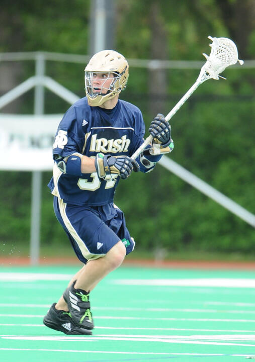 Midfielder Michael Podgajny is the first Notre Dame player to be selected in the first round of the MLL Draft.