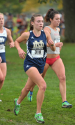 Sophomore Alexa Aragon followed her father's footsteps as a competitive runner at Notre Dame, running for her dad's old coach Joe Piane - who also happens to be her godfather.