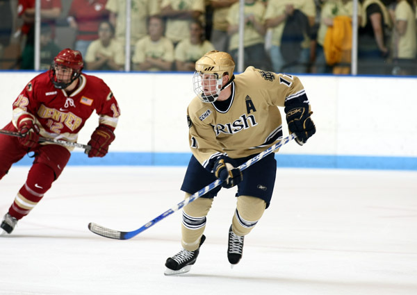 Senior right wing Erik Condra will serve as captain of the 2008-09 Notre Dame hockey team.