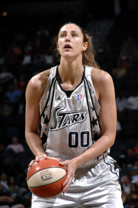 Former Notre Dame All-America center Ruth Riley ('01) will go in search of her third WNBA championship when the San Antonio Silver Stars play host to the Detroit Shock in Game 1 of the WNBA Finals Wednesday at 7:30 p.m. ET on ESPN2. <i>(photo by WNBAE/Getty Images)</i>