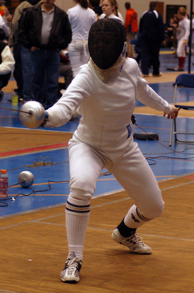 Kim Montoya earned a bronze medal in epee at the 2008 Penn State Open.