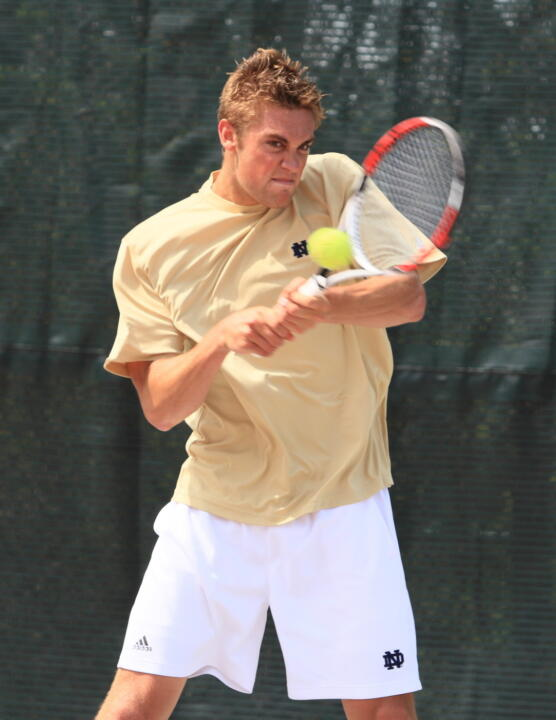 Brett Helgeson advanced to the Round of 16 at the ITA National Indoors.