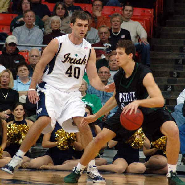 Luke Zeller and the Fighting Irish will battle Ohio State on Saturday at Lucas Oil Stadium in Indianapolis.