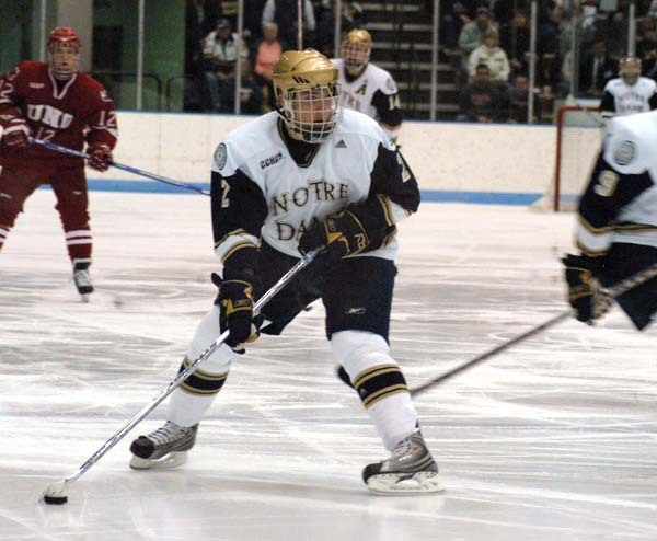 Defenseman Kyle Lawson helped the Irish to a pair of shutout wins versus Alaska.  He also assisted on three of Notre Dame's five goals on the weekend.