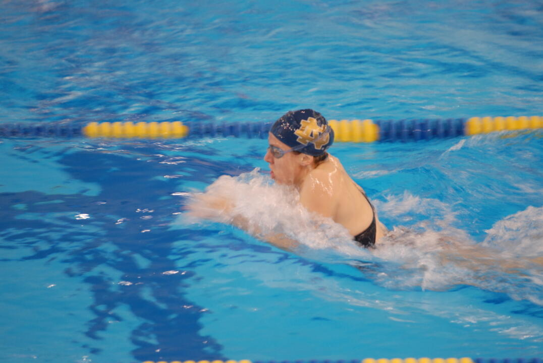Notre Dame won nine of 19 events Saturday at Northwestern.