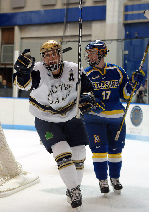 Junior left wing scored on Notre Dame's first penalty shot since the 2001-02 season in the 3-2 win over Michigan.