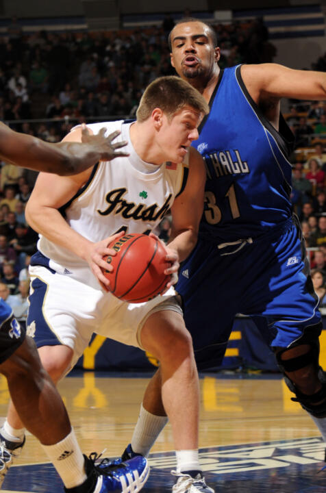 Junior forward Luke Harangody has posted five straight double-doubles.