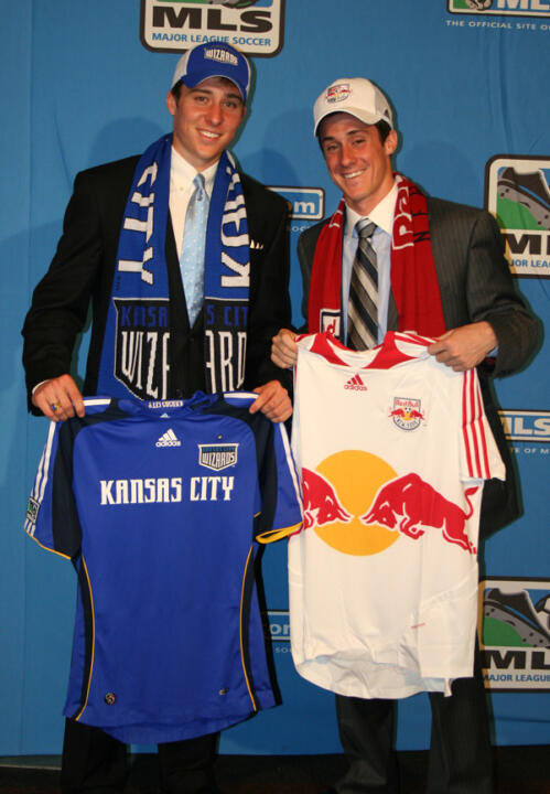 Matt Besler (left) and Jack Traynor (right) were selected by the Kansas City Wizards and New York Red Bulls, respectively.